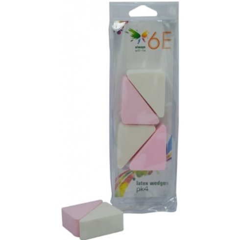 6E Latex Makeup Wedges 3x - Pack of 4