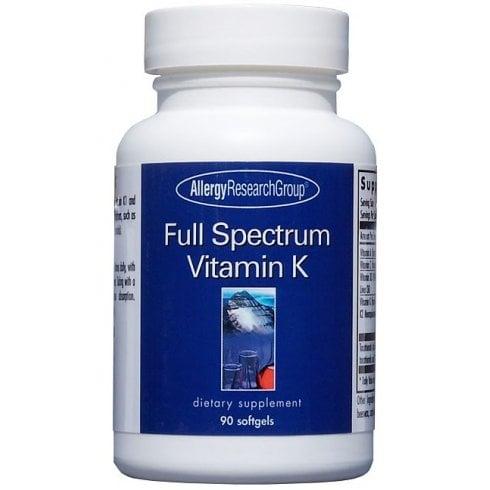 Allergy Research Full Spectrum Vitamin K 90's
