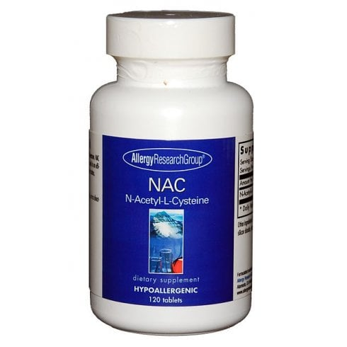 Allergy Research NAC  N-Acetyl-L-Cysteine 120's