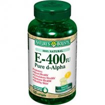 Vitamin E, Natural Source, 400iu (D-Alpha) 120's