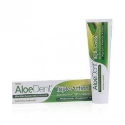 Aloe Vera Triple Action Toothpaste Fluoride Free & CoQ10 100ml