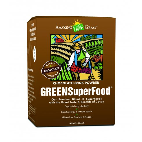 Amazing Grass Chocolate Green Super Food 15 x 8g