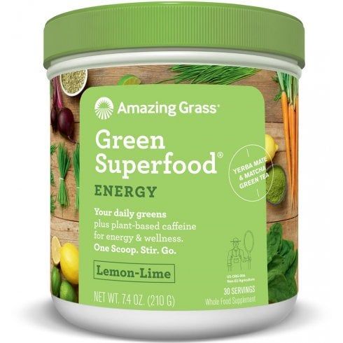 Amazing Grass Green SuperFood Energy Lemon and Lime (30 Servings) 210g
