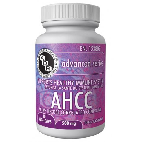 AOR AHCC (Active Hexose Correlated Compound) - 500mg - 30 vegi-caps