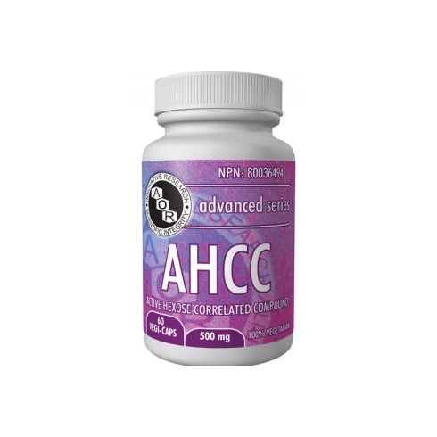 AOR AHCC (Active Hexose Correlated Compound) - 500mg - 60 vegi-caps