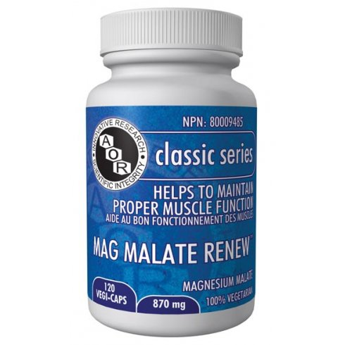 AOR Magnesium Malate Renew - 793mg - 120 vegi-caps