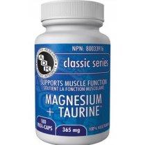 Magnesium + Taurine - 365mg - 180 vegi-caps