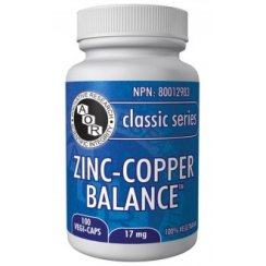 Zinc & Copper Balance - 17mg - 100 vegi-caps