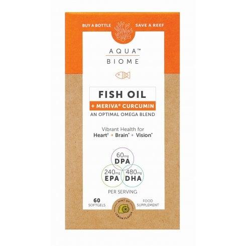 Aqua Biome Fish Oil + Meriva Curcumin 60's