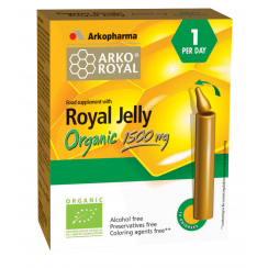 ArkoRoyal Royal Jelly Organic 1500mg 10 vials