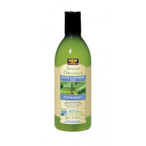 Avalon Organics Peppermint Bath & Shower Gel 355ml