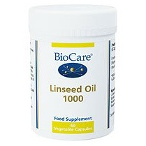 Biocare Linseed Oil 1000mg Capsules - 60