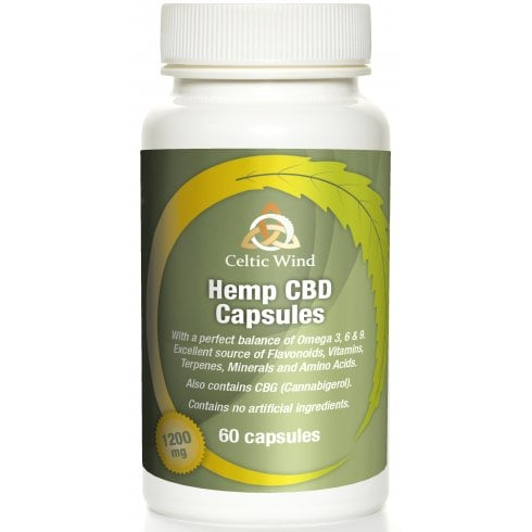 Celtic Wind Crops Hemp CBD Capsules 1200mg 60's
