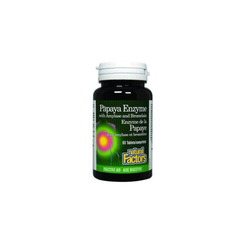 Hadley Wood Healthcare Chewable Papaya Enzymes with Amylase and Bromelain 60's