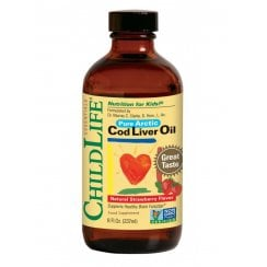 ChildLife Essential Cod Liver Oil Natural Strawberry Flavour 237ml
