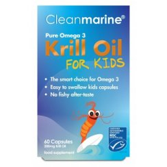Cleanmarine Krill Oil for Kids 200mg 60's