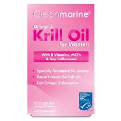 Cleanmarine Krill Oil for Women - 60 x 600mg gelcaps
