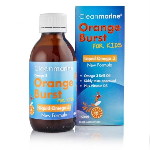 Cleanmarine Orange Burst for Kids Liquid Omega 3 150ml