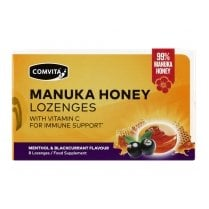 Manuka Honey Lozenges Menthol & Blackcurrant Flavour 8's