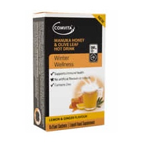 Manuka Honey & Olive Leaf Hot Drink Sachets (Lemon & Ginger) 6 sachets
