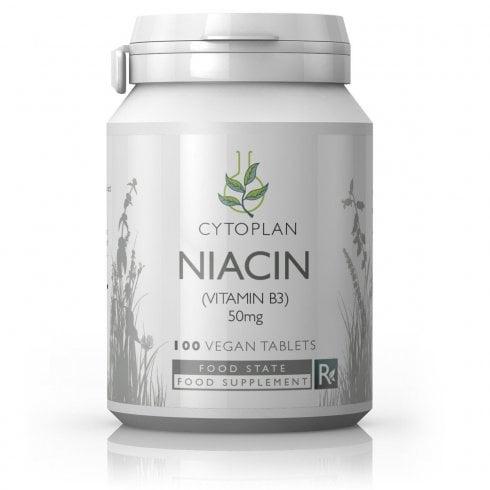 Cytoplan Niacin Vitamin B3 50mg 100's