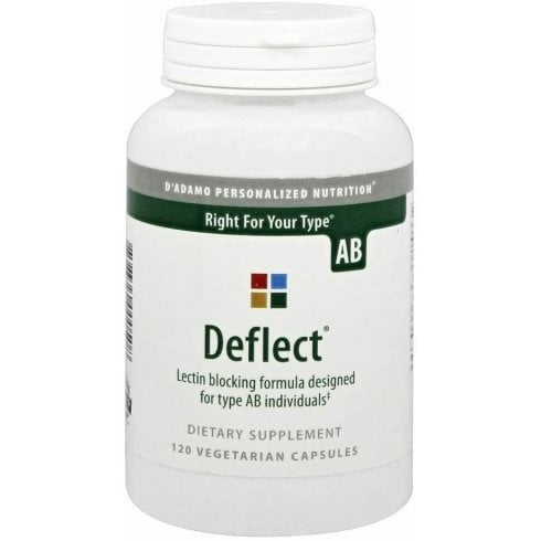 D'Adamo Personalized Nutrition Deflect Lectin Blocking Formula for Type AB 120's