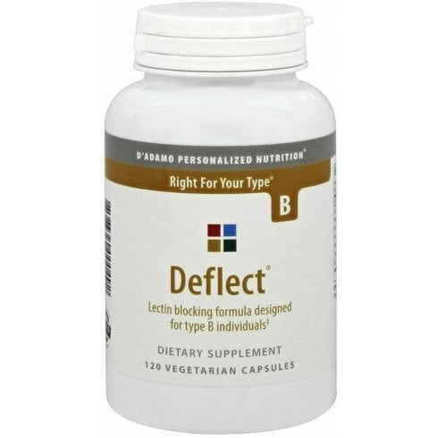 D'Adamo Personalized Nutrition Deflect Lectin Blocking Formula for Type B 120's