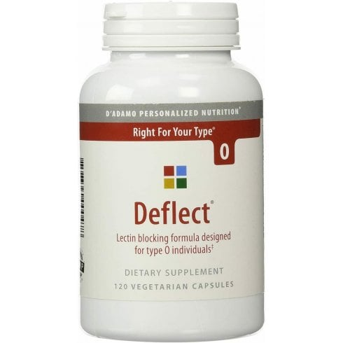 D'Adamo Personalized Nutrition Deflect Lectin Blocking Formula for Type O 120's