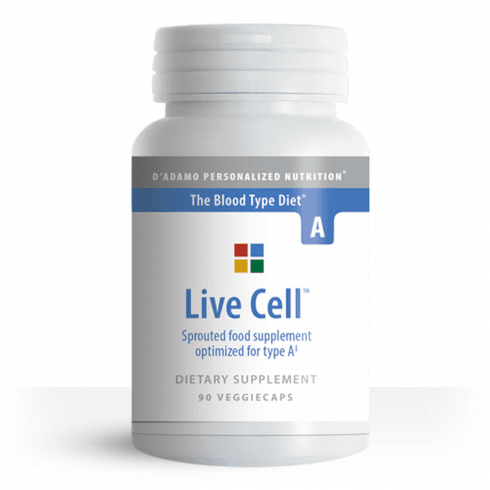 D'Adamo Personalized Nutrition Live Cell Sprouted Food Supplement for Type A 90's