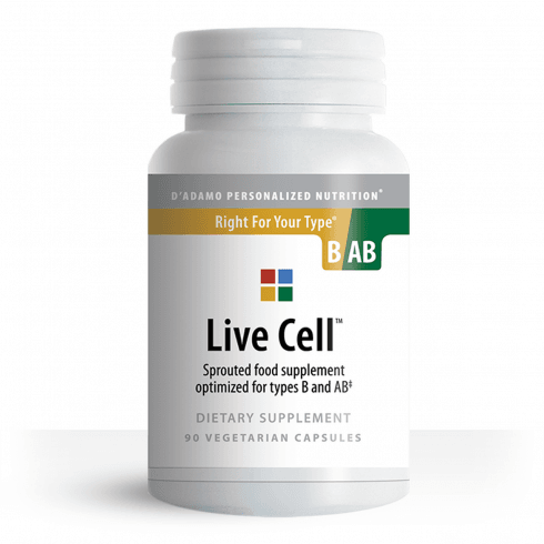 D'Adamo Personalized Nutrition Live Cell Sprouted Food Supplement for Type B and AB 90's