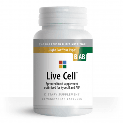 Live Cell Sprouted Food Supplement for Type B and AB 90's