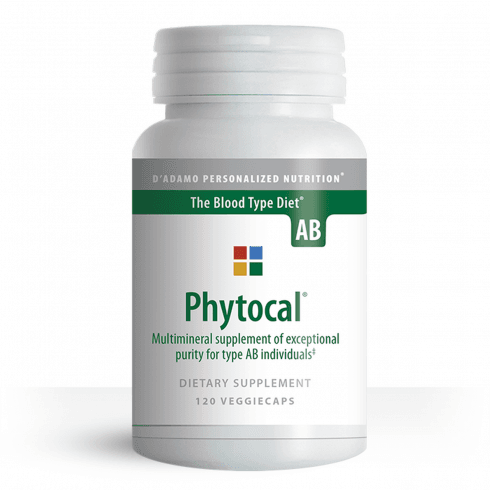 D'Adamo Personalized Nutrition Phytocal Multimineral for Type AB 120's
