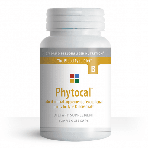 D'Adamo Personalized Nutrition Phytocal Multimineral for Type B 120's