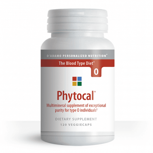 D'Adamo Personalized Nutrition Phytocal Multimineral for Type O 120's