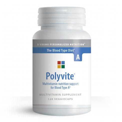 D'Adamo Personalized Nutrition Polyvite Multivitamin Support for Type A 120's