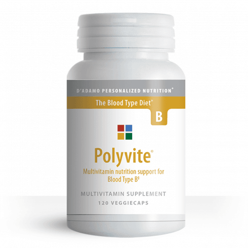 D'Adamo Personalized Nutrition Polyvite Multivitamin Support for Type B 120's