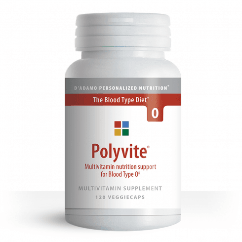 D'Adamo Personalized Nutrition Polyvite Multivitamin Support for Type O 120's