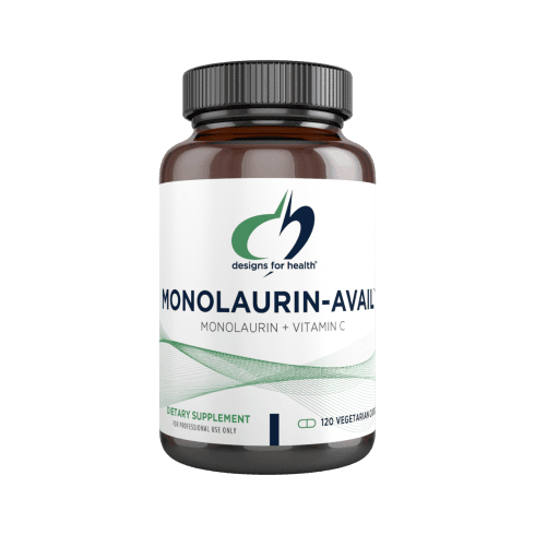Designs For Health Monolaurin-Avail 500mg - 120 Capsules