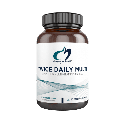 Designs For Health Twice Daily Multi - 60 Capsules