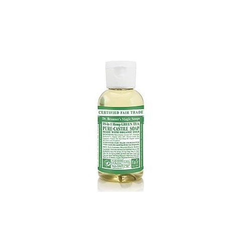 Dr Bronner's Magic Soaps 18-in-1 Hemp Green Tea Pure-Castile Liquid Soap 60ml
