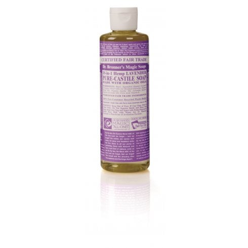 Dr Bronner's Magic Soaps 18-in-1 Hemp Lavender Pure-Castile Liquid Soap 237ml