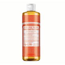 Dr Bronner's Magic Soaps 18-in-1 Hemp Tea Tree Pure-Castile Liquid Soap 473ml