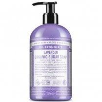 Dr Bronner's Magic Soaps 4-In-1 Lavender Organic Sugar Pump Liquid Soap 356ml