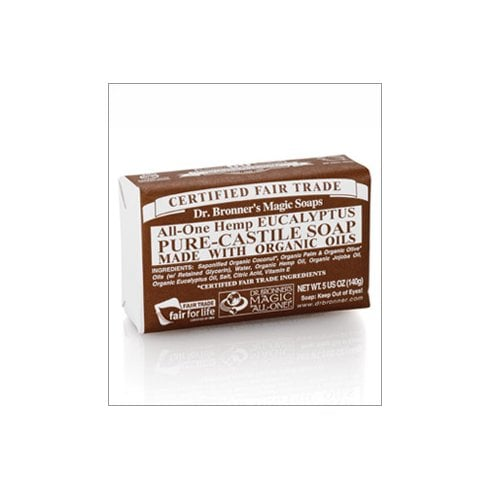 Dr Bronner's Magic Soaps All-One Hemp Eucalyptus Pure-Castile Soap 140g