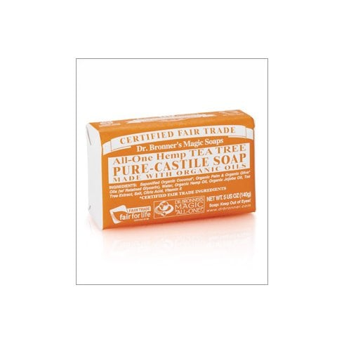 Dr Bronner's Magic Soaps All-One Hemp Tea Tree Pure-Castile Soap 140g (Currently Unavailable)