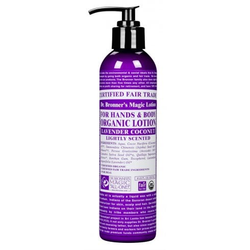 Dr Bronner's Magic Soaps For Hands & Body Organic Lotion Lavender Coconut 237ml