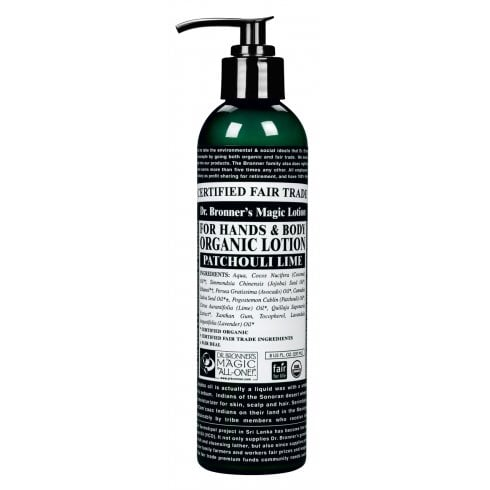 Dr Bronner's Magic Soaps For Hands & Body Organic Lotion Patchouli Lime 237ml