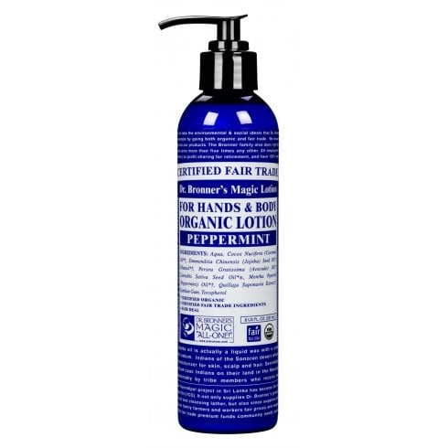 Dr Bronner's Magic Soaps For Hands & Body Organic Lotion Peppermint 237ml
