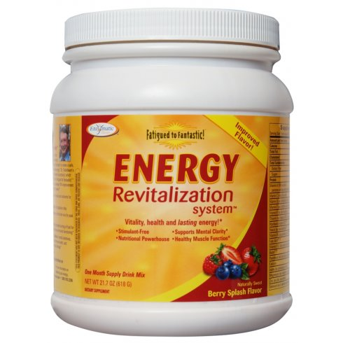 Enzymatictherapy Daily Energy Fatigued to Fantastic! Energy Revitalization System Berry Flavour 618g