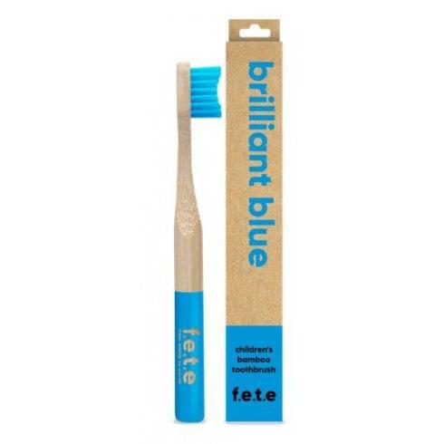 F.E.T.E Children's Bamboo Toothbrush - Brilliant Blue (single)